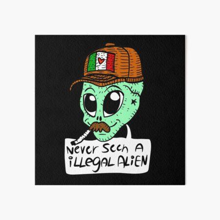 illegal alien. trump VS democrats. funny. Art Board Print