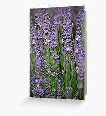 Lavender Blue Greeting Card
