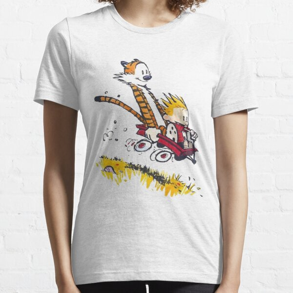 calvin and hobbes happy Essential T-Shirt