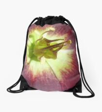The innermost whorl of a Flower Drawstring Bag