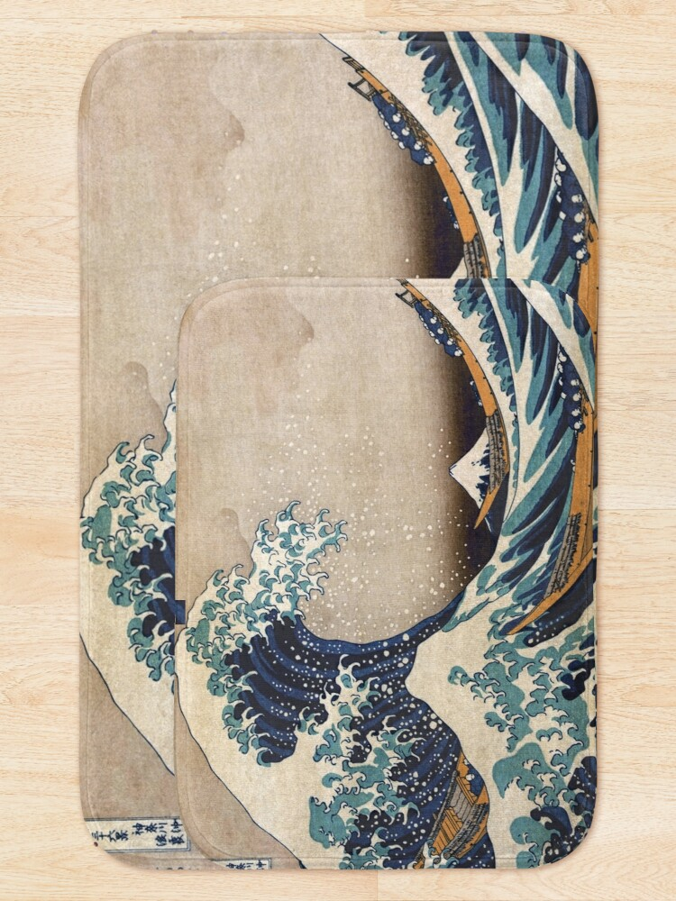 Alternate view of The Great Wave off Kanagawa Bath Mat