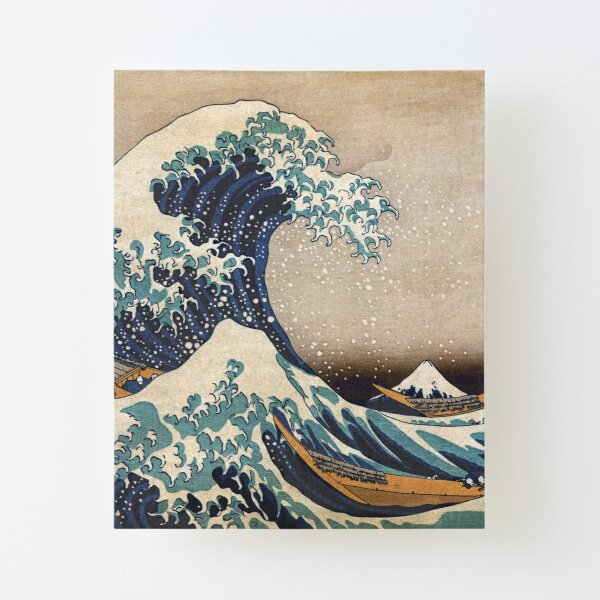 The Great Wave off Kanagawa Canvas Mounted Print