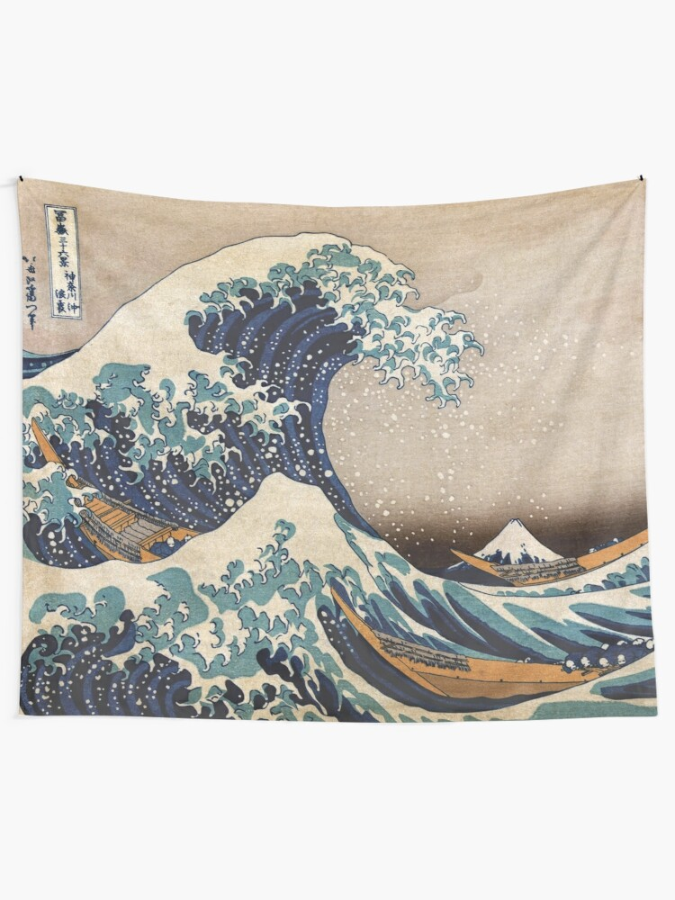 Alternate view of The Great Wave off Kanagawa Tapestry