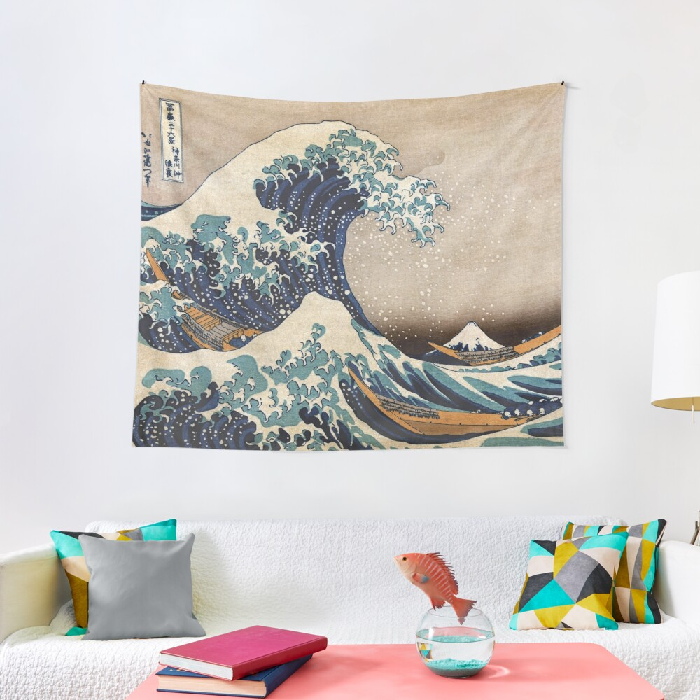 The Great Wave off Kanagawa Tapestry