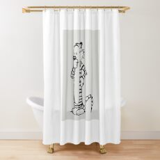 tiger the hobbes Shower Curtain