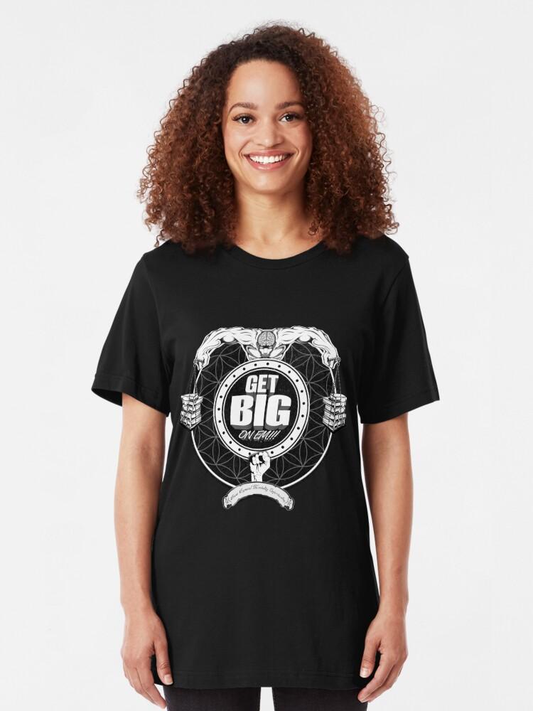 Alternate view of Get Big On 'Em!!! - BLACK Slim Fit T-Shirt