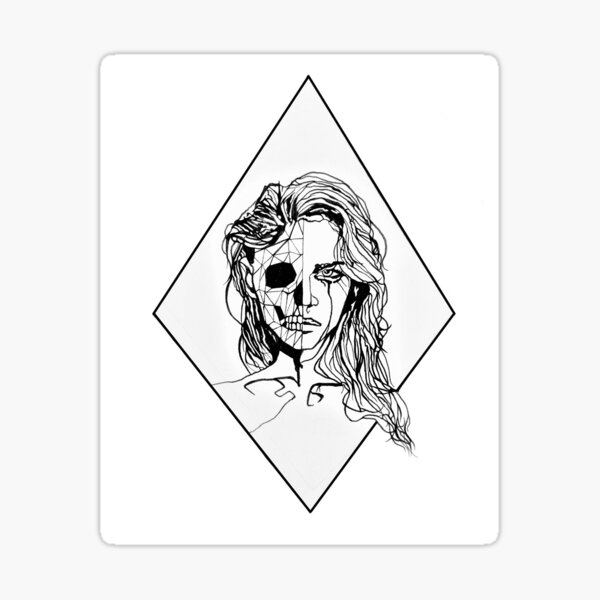 Geometric Portrait Sticker
