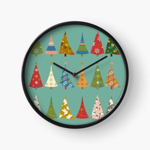 Christmas Trees Clock