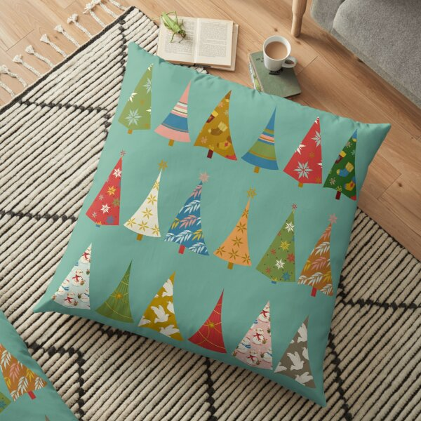 Christmas Trees Floor Pillow