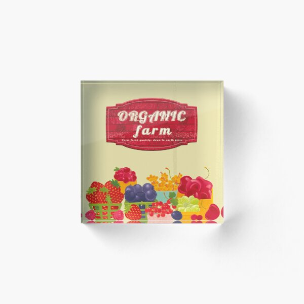 Organic Farm Acrylic Block
