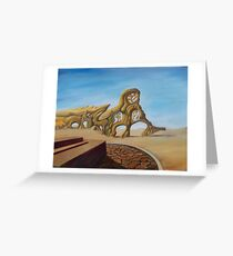 deserted superstructure  Greeting Card
