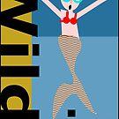 Wild Swim, Watch out mermaids! by Kristina Evans