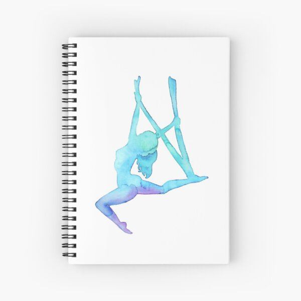 Aerial Girl - antigravity yoga Spiral Notebook