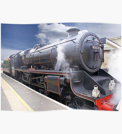 """The """"Eric Treacy"""" Steam Train, Whitby, North Yorkshire, England Poster"""