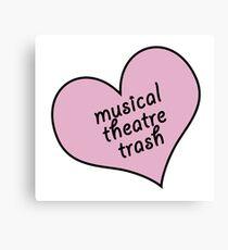 Musical theatre trash Canvas Print