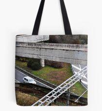 Rails, roads and walkways. Tote Bag