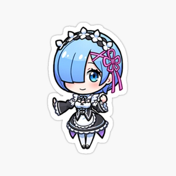 (UL)  Re Zero: Chibi Rem Sticker
