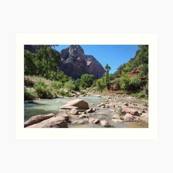 Virgin River - Zion National Park, Utah Art Print