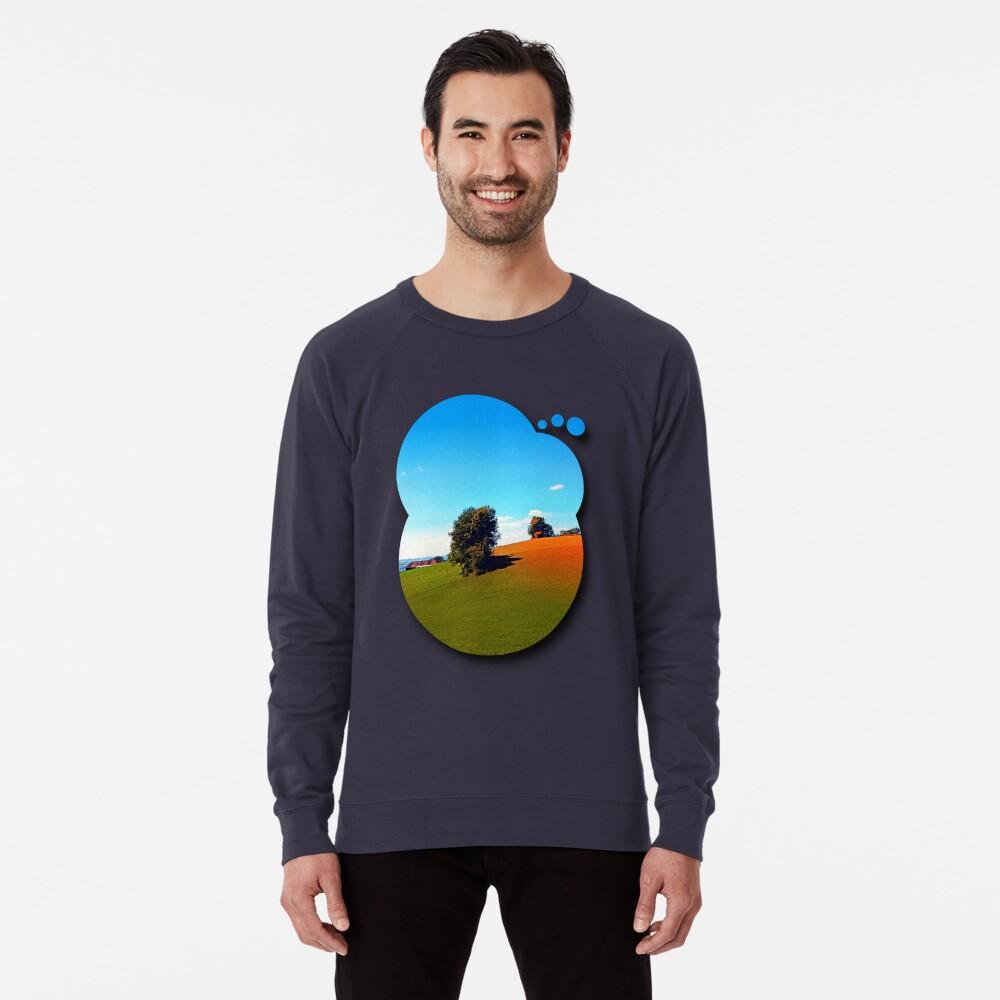Trees, a hidden farm and fields of summer Lightweight Sweatshirt