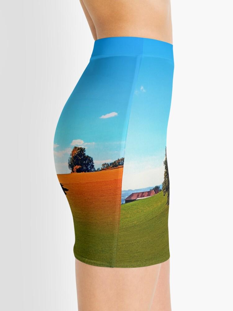 Alternate view of Trees, a hidden farm and fields of summer Mini Skirt