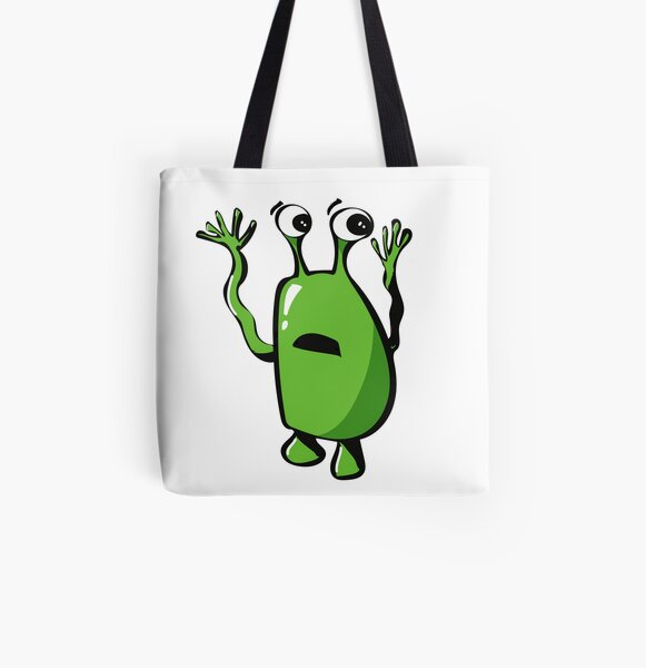 Green Monster All Over Print Tote Bag