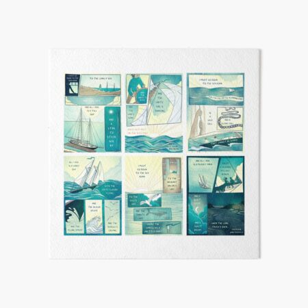 Sea Fever - Horizontal/With White Space Art Board Print