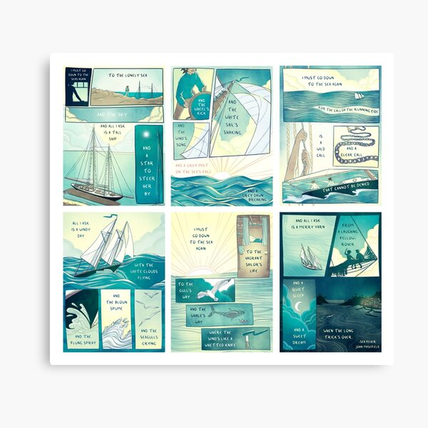 Sea Fever - Horizontal/With White Space Canvas Print