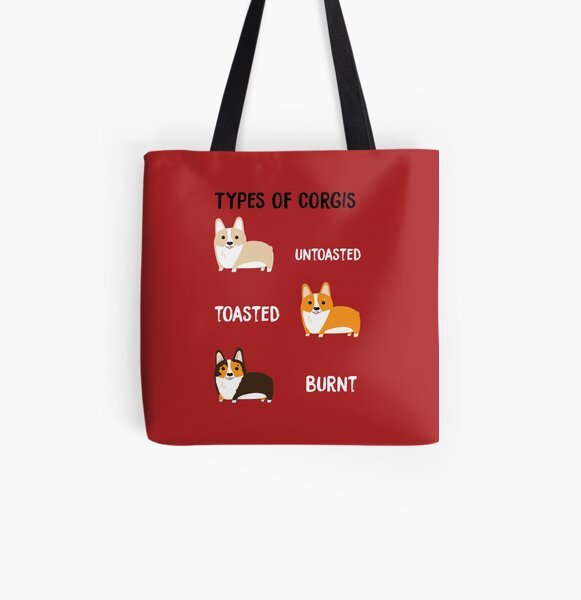 Types of Corgis All Over Print Tote Bag