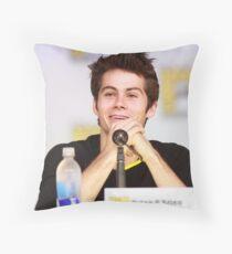Dylan O'Brien Comic Con Smile Throw Pillow