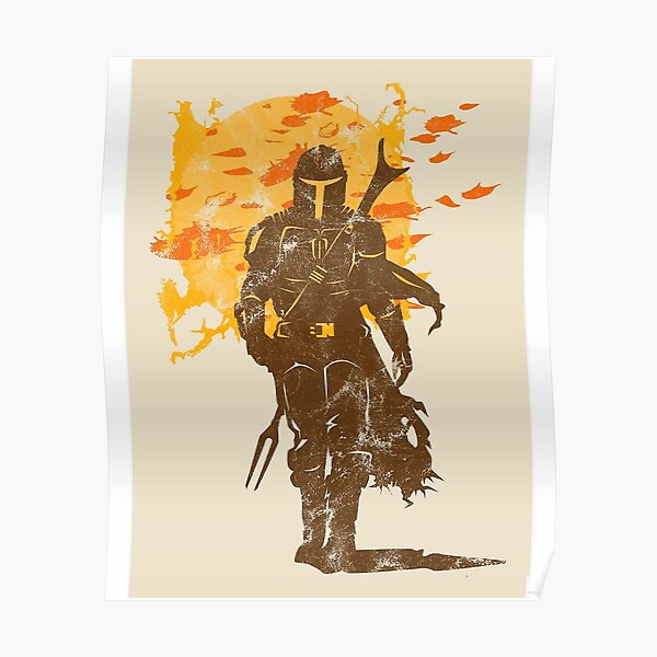 gold knight Poster