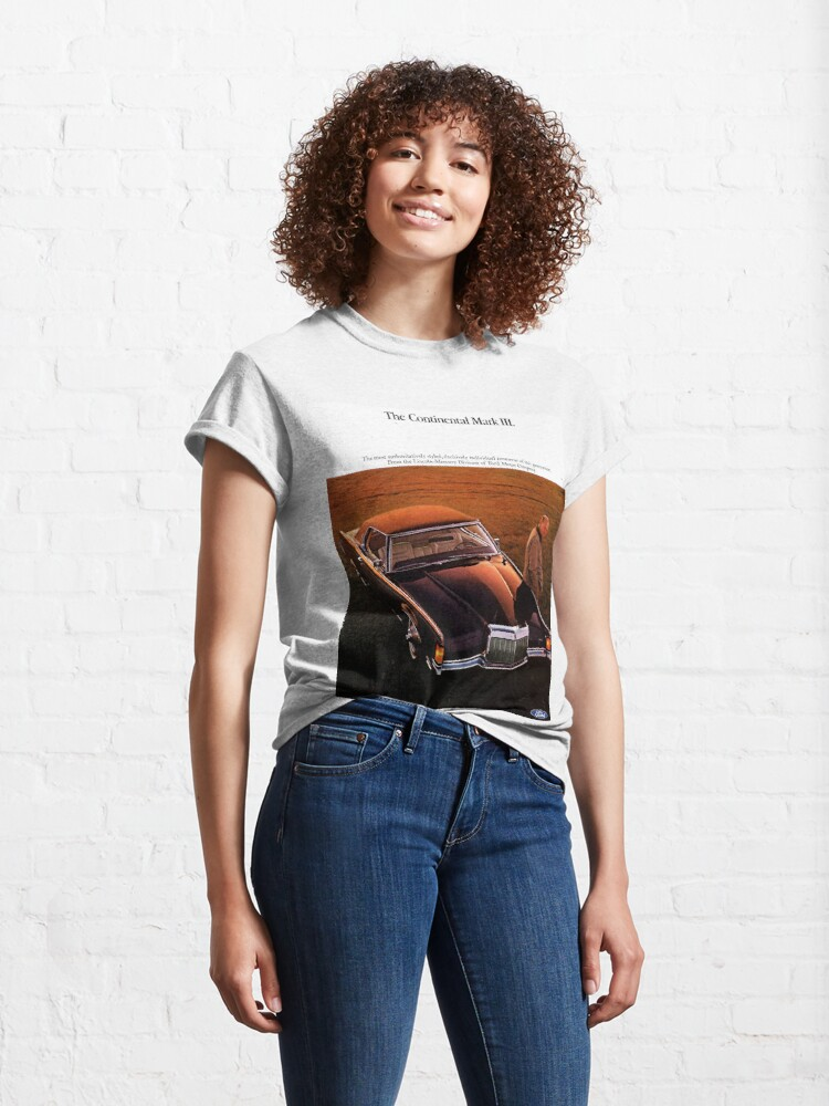 Alternate view of Ford Continental Mark III 1968 Classic T-Shirt