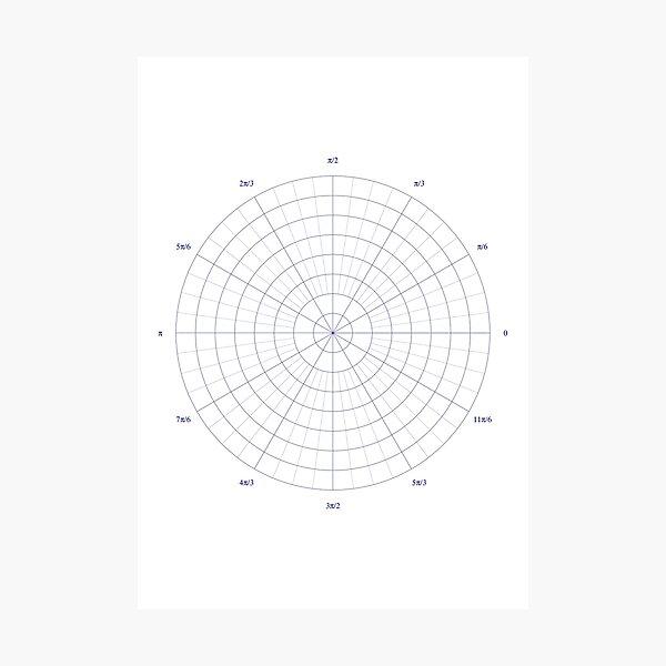graph paper of polar coordinates, #graph #paper #polar #coordinates #GraphPaper #PolarCoordinates Photographic Print