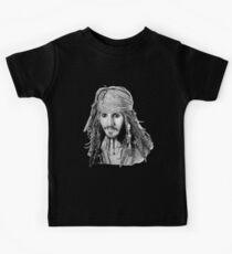 Captain Jack Sparrow (b/w) Kids Clothes