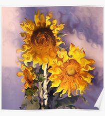 Sunflowers Arranged Poster