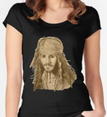 Captain Jack Sparrow (sepia) Women's Fitted Scoop T-Shirt