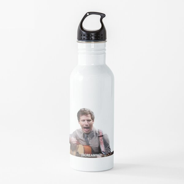 Jake Peralta screaming with guitar Water Bottle