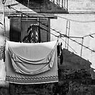 Italian wash day in black and white by Silvia Ganora