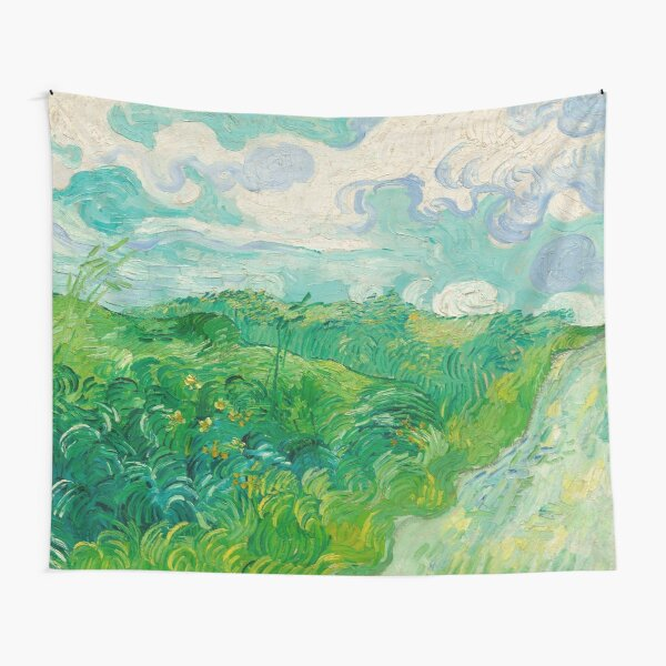 Green Wheat Fields, Auvers, Vincent van Gogh Tapestry