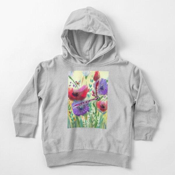 Poppy Meadow Purple Dandelions  Toddler Pullover Hoodie