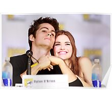 Dylan O'Brien and Hollan Roden Comic Con Poster