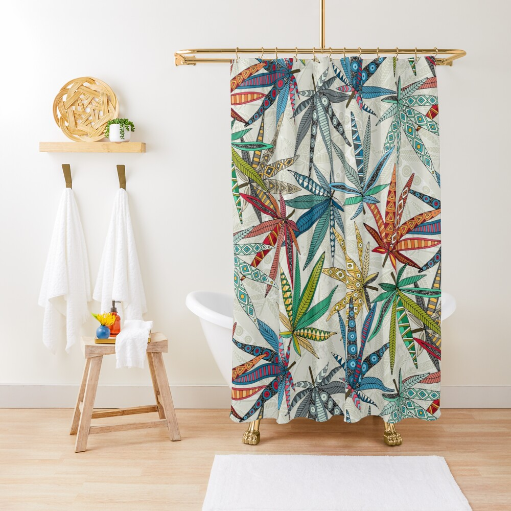 boho weed light Shower Curtain