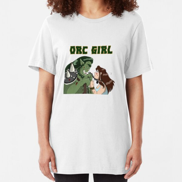 Orc Girl -Chains Slim Fit T-Shirt
