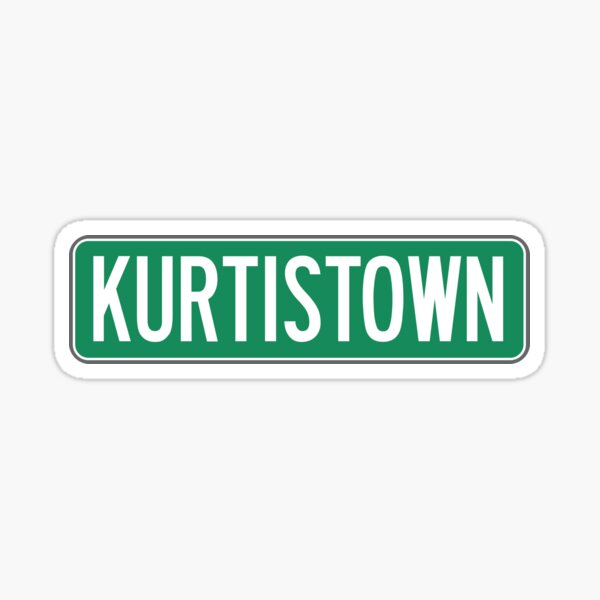 kurtistown sign - kurtis conner Sticker