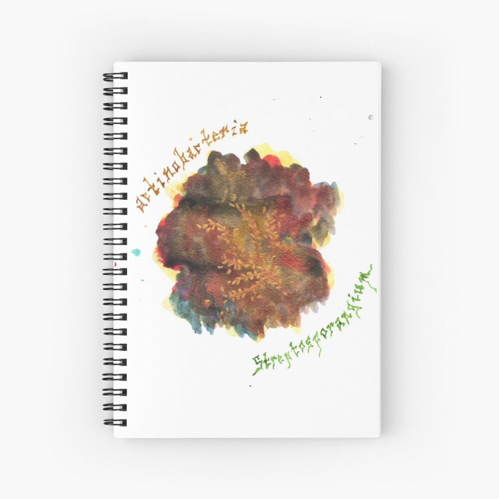 Actinobacteria Art Prints Spiral Notebook