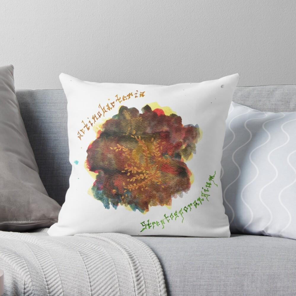 Actinobacteria Art Prints Throw Pillow