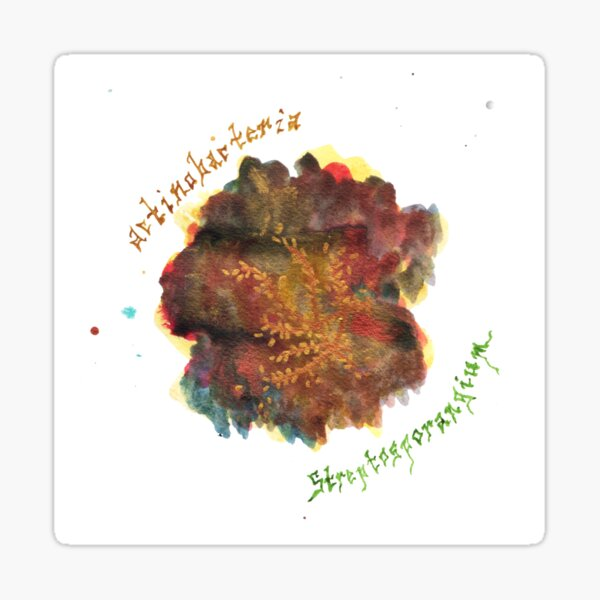 Actinobacteria Art Prints Sticker