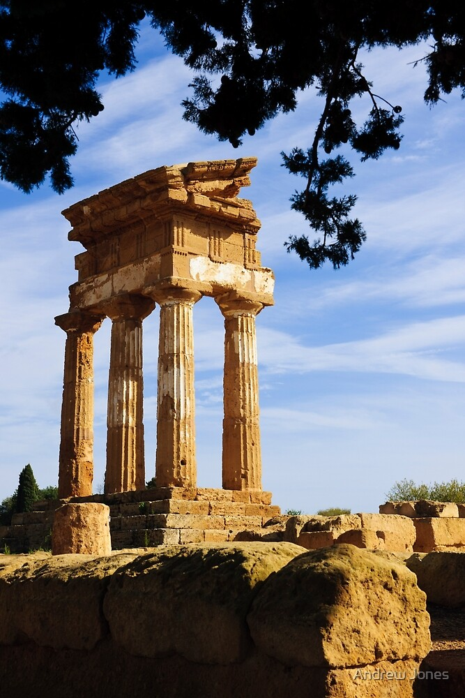 Tempio dei Dioscuri, Valley of the Temples, Agrigento, Sicily by Andrew Jones