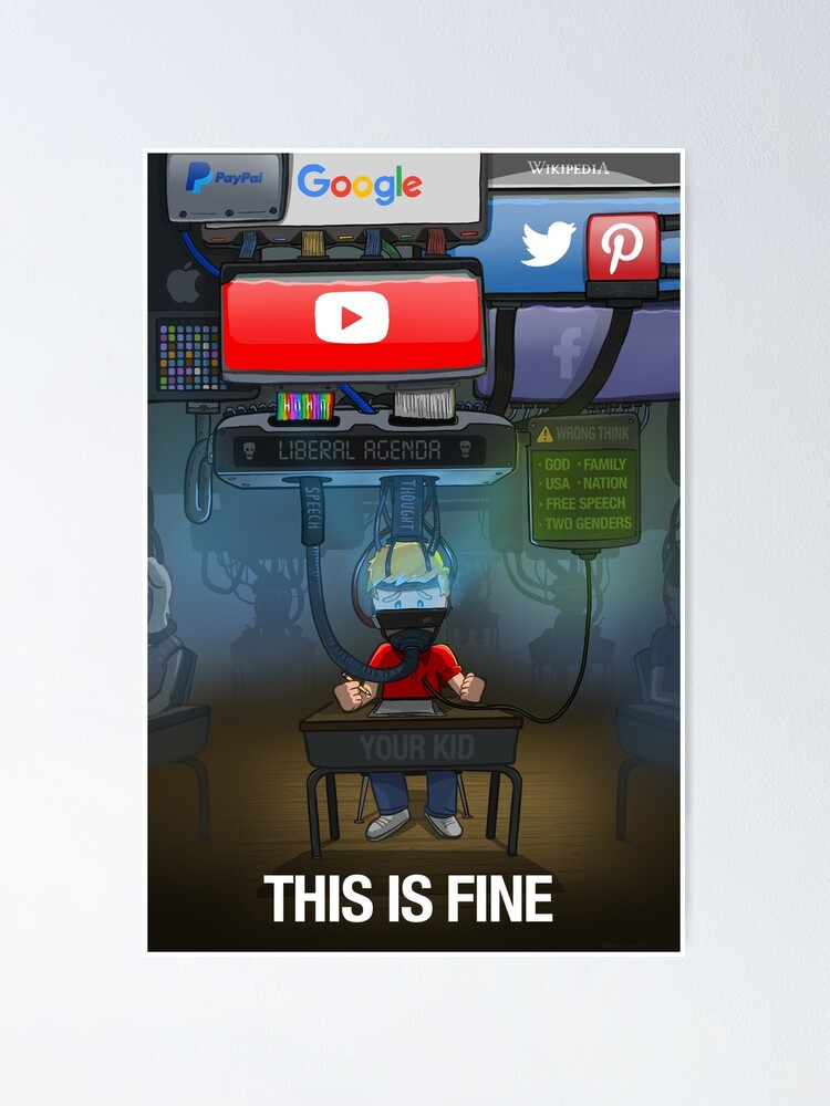 Alternate view of Big Tech: This is Fine Poster