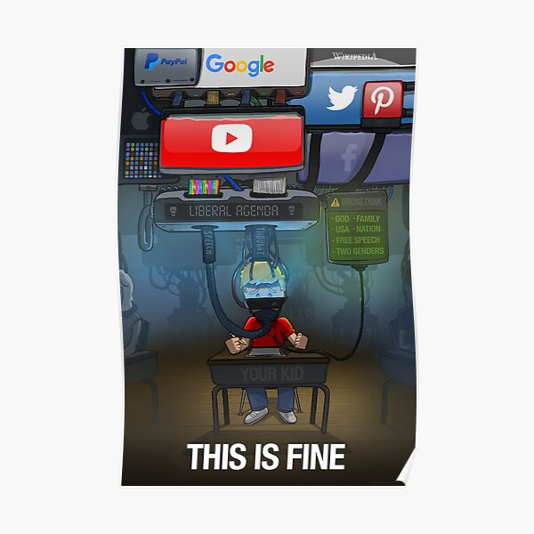 Big Tech: This is Fine Poster
