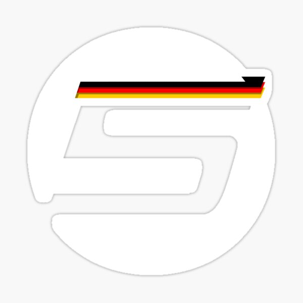 German '5' logo - small Sticker